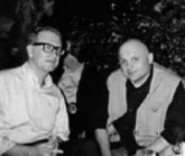 Con Valerio Magrelli